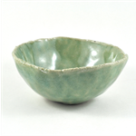 Ceramic Stoneware Bowl Rustic Green