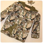 Size 1, 2, 3 - Dinosaur jacket coat jumper - boys, fleece, camouflage, army