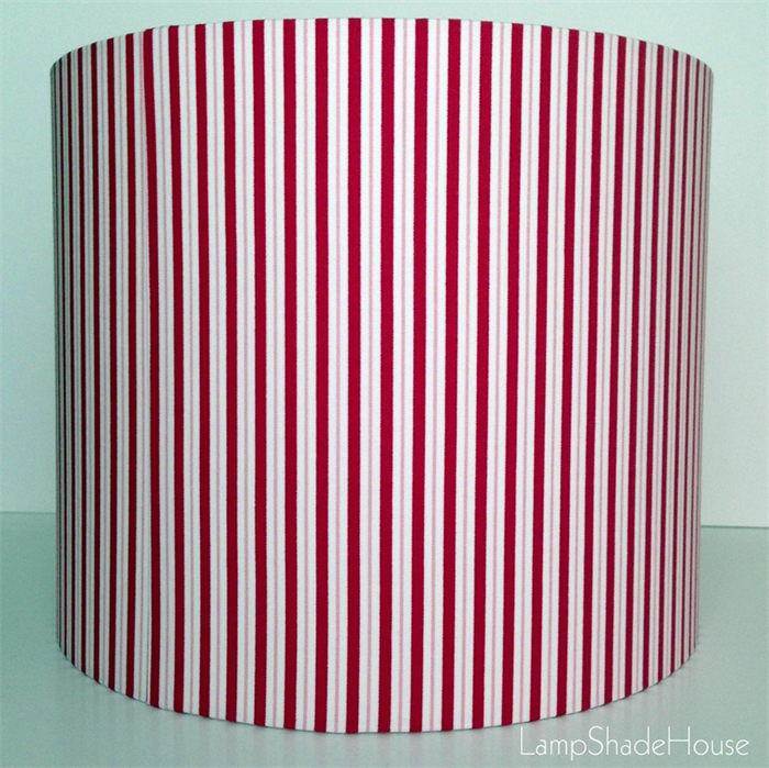 Red grey white stripes medium lamp shade lampshadehouse red grey white stripes medium lamp shade aloadofball Images