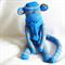 Sock Monkey Kit - Blue and Grey Stripes