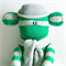 Sock Monkey Toy Green and Grey Stripes
