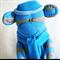 Sock Monkey Toy Blue and Grey Stripes