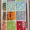 Pram size Boys Rag Quilt/Blanket - Red, Blue & Green - Owls & Trucks