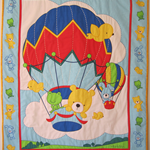 Hot Air Balloon Baby Quilt