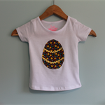 Easter Top. Girls Applique Easter Egg Tee. Ready To Ship in Size 1 and 3.