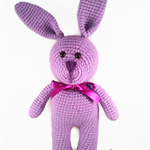 Purple Crochet Easter Bunny rabbit