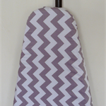 Ironing Board Cover - Grey and white Chevron zig zag