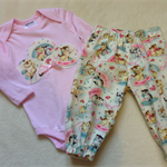 Harem Pants and Matching Long Sleeve Onesie