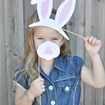 Bunny Ears and Nose Printable Photo Props
