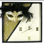 Unique Wall Clock, Venetian Mask Wall Art, Home Decor, Modern Contemporary Clock