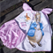 Peter Rabbit Sun Dress and Pant set with Hair clips