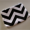 Black & White Zig Zag/Chevron Zip Pouch - Coin Purse - Zip Purse