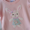 """Pretty Pink Bunny"" Applique Easter Tee for Girls Sizes 1-7 Short or Long Sleeve"