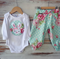 """Miss Bunny"" Set - Easter Applique bodysuit & matching harem pants Size 0000-1"