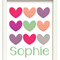 "PERSONALISED ""LOVE HEARTS"" PRINT"