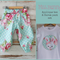 """Miss Bunny"" Set - Applique top and Matching Harem Pants