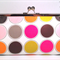 Dots on white large clutch purse