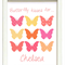 "PERSONALISED ""BUTTERFLY KISSES"" PRINT"