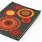 A6 Notebook. Eco recylced. Handmade. Funky Circles Sunset.