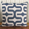 Navy & White Retro 60's style Cushion Cover - Retro Cushions