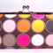 Dots on brown large clutch purse
