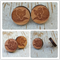 Laser cut wooden disc earrings - Fox