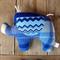 Bert Plush Vintage Chenille Elephant