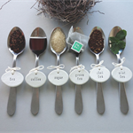clay tags - cuppa time pantry  labels (set of 6)