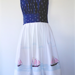 CUSTOM MADE Out to Sea Ladies Dress Retro 50s Style