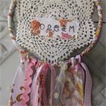 Vintage Inspired Upcycled Dream Catcher