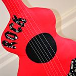 Red Rock n Roll Guitar Pillow