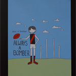 Once A Bomber, Always a Bomber Illustration Print.
