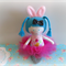 EASTER BUNNY GIRL Mini Cloth Doll