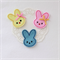 Easter bunny brooch - choose your colour