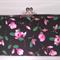 Pink magnolia large clutch purse