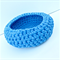 Chunky Sky Blue Crocheted Bowl/Storage Basket
