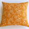 Bird and Wheel Print Organic Cotton Cushion Cover in Pumpkin and Cream