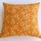 Bird and Wheel Print Organic Cotton Cushion Cover in Pumpkin and Cream