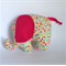 Baby elephant plush toy with multi colour polka dots