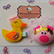 Queen Ducky & Queen Piggy Clips
