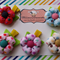 Polka Dots Puffy Fabric Flowers Clips