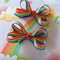Rainbow Hair bow set (2 bows)