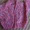 SIZE 1 - Hand knitted cardigan in pinks & purple : Washable, girls