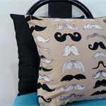 Cushion Covers- reversible - Moustaches for your Man - set of 2