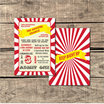 Circus Printable Custom Invitation