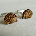 Cufflinks - animal cufflinks - echidna cufflinks - lasercut wooden