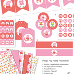Printable Birthday Party Collection Template - 'Peppa Pig'