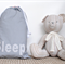 Cot Sheet Drawstring Bag - Mini Star Grey