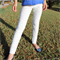 White Frilled Girl's Leggings Size 5 - 6 Ready to post