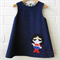 Denim Tunic/Pinafore/Pinny Supergirl Applique Size 3